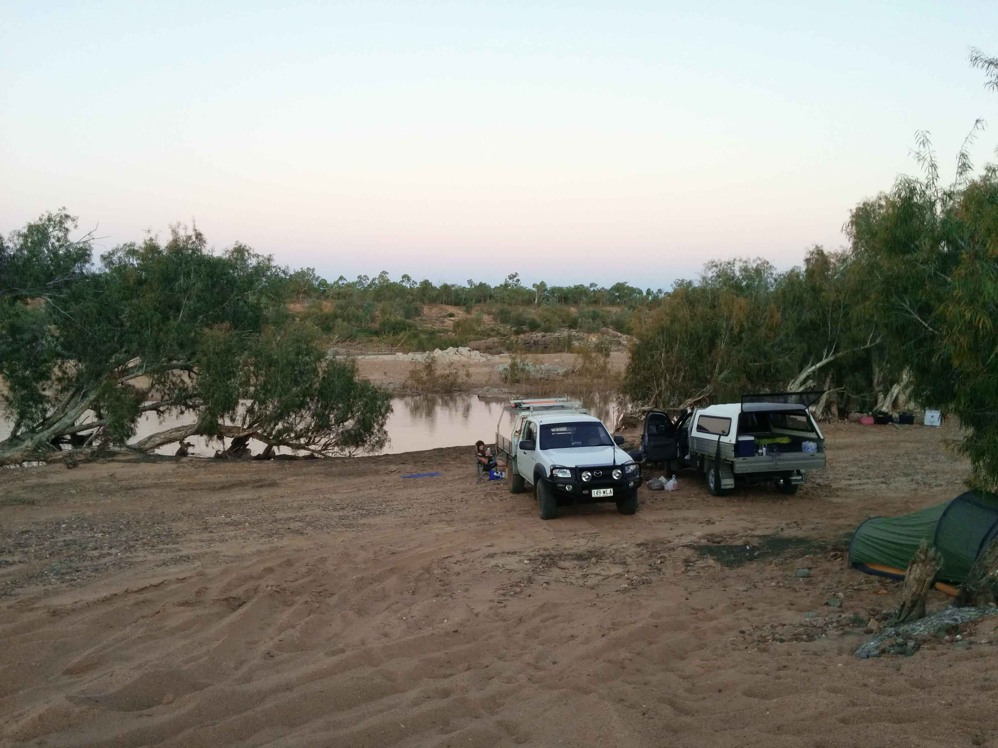 Camping by the Burdekin River