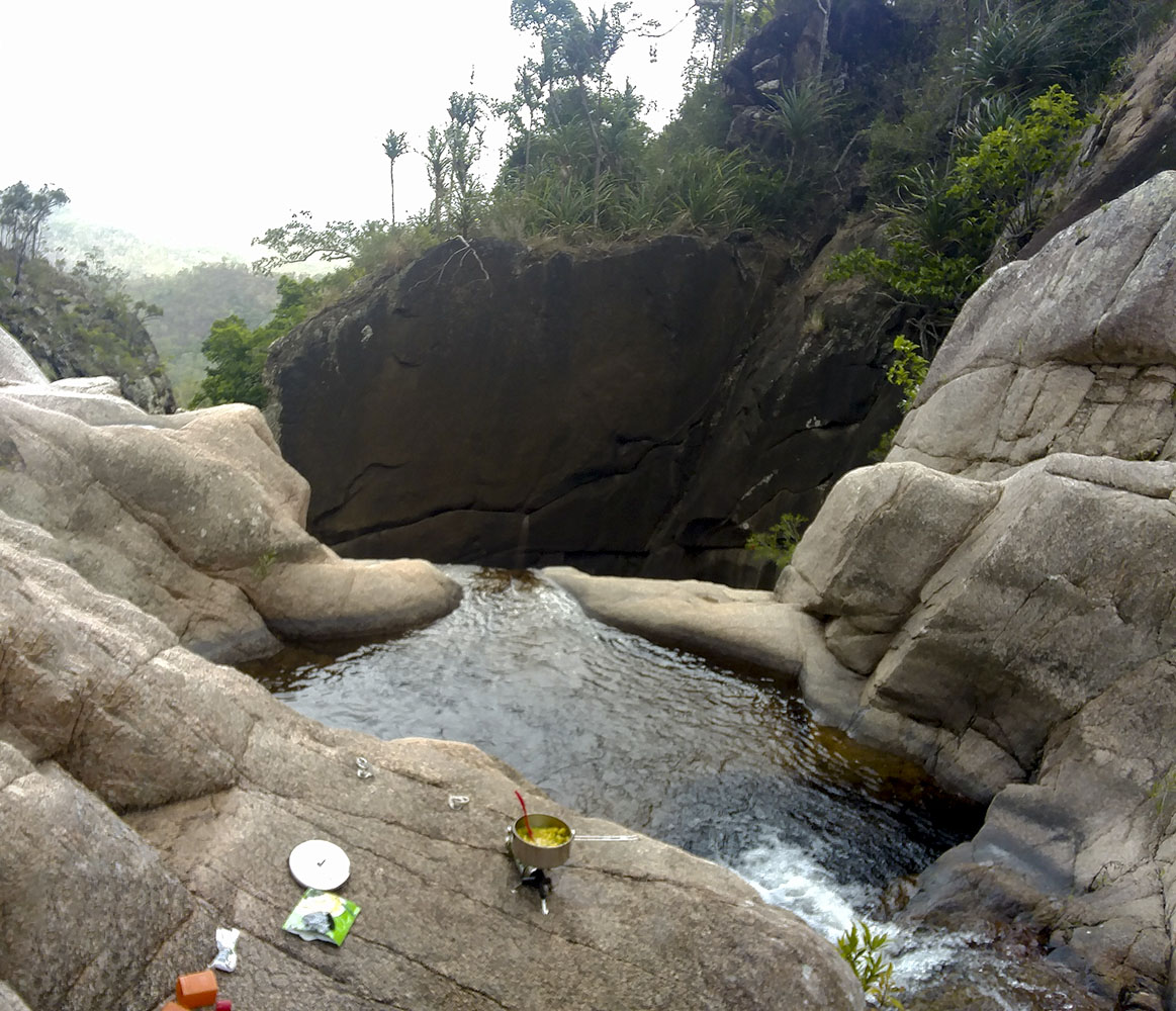 Cooking at the top of Jourama Falls
