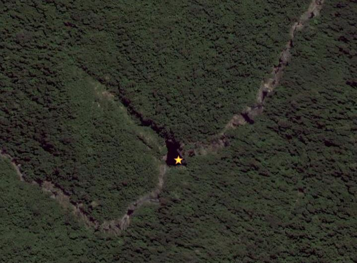 Google Maps satellite imagery of Jourama Falls Blackhole Swimming Hole