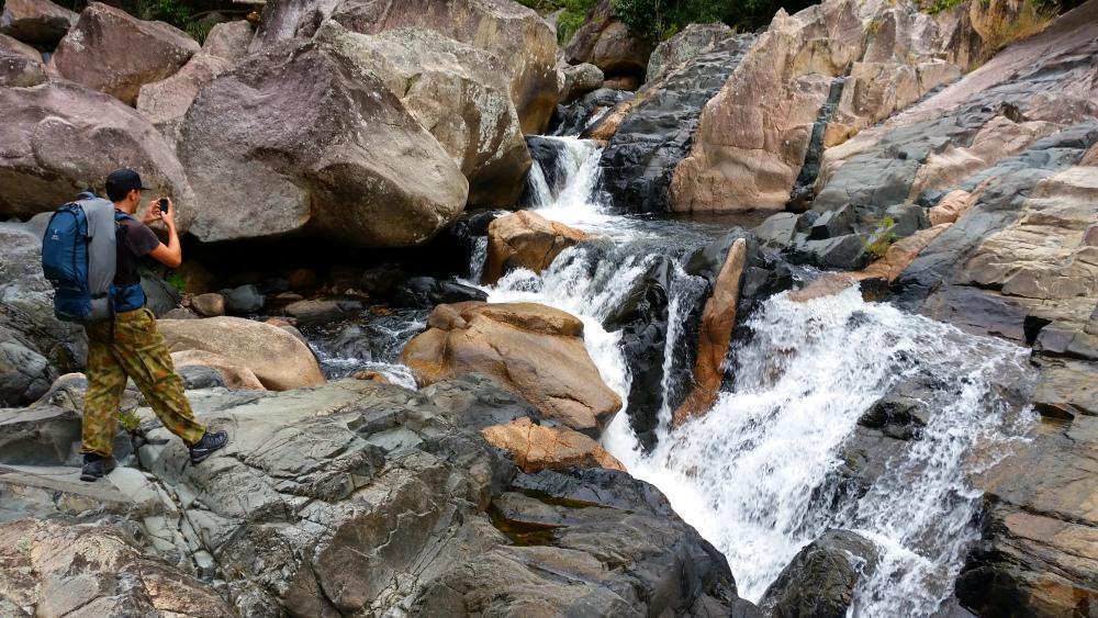 Small waterfall at Jourama Falls