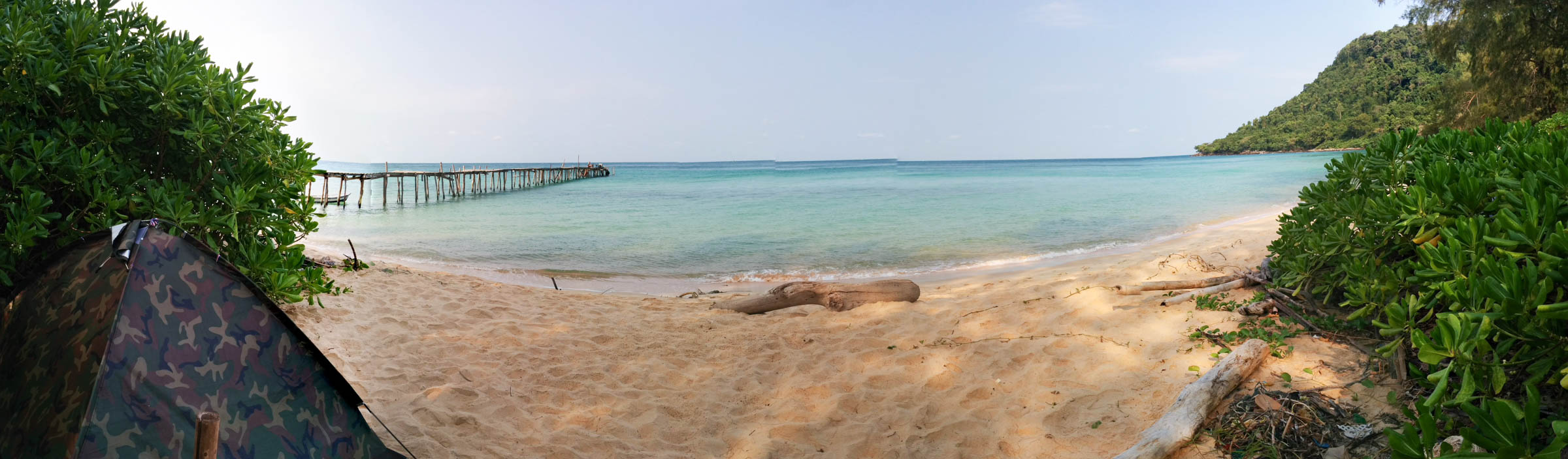 Koh Rong Samloem beach tent