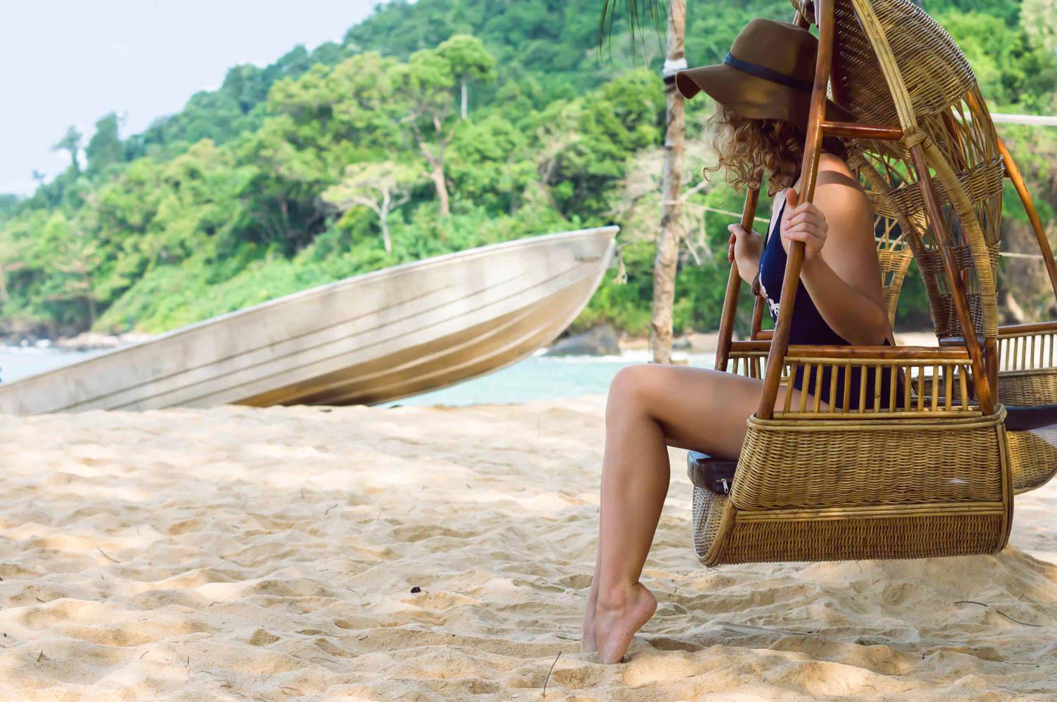 Chair swing on beach