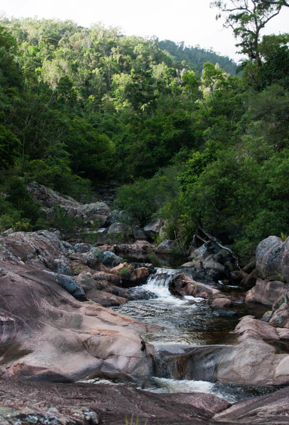 Top of Jourama Falls looking upstream at waterview creek