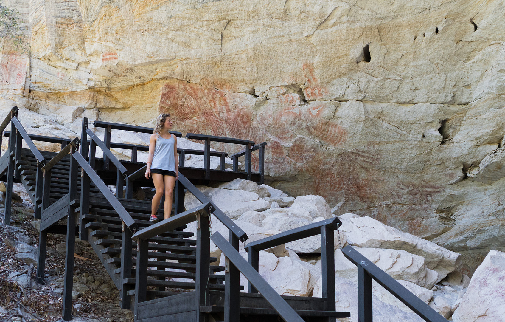 Aboriginal paintings at Cathedral Cove