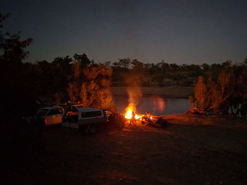 Campfire by the Burdekin River