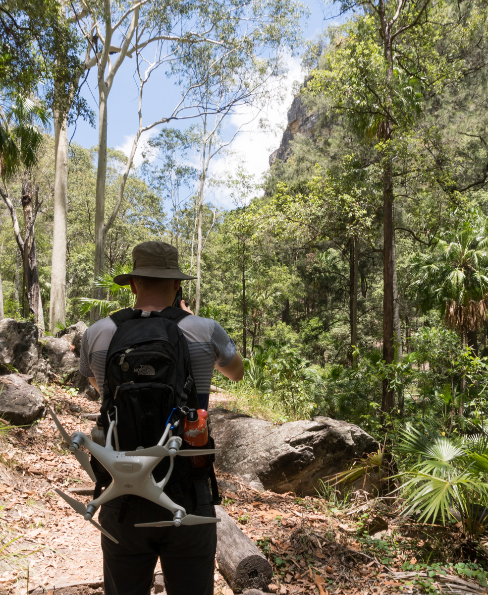 Walking track to Warrumbah Bluff