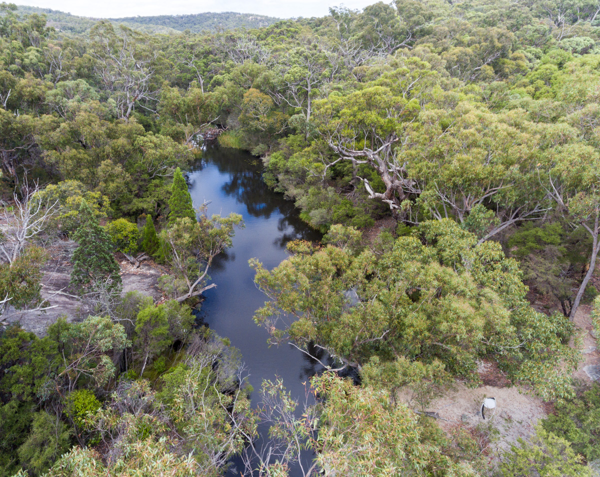 Photo from above Dr Roberts' Waterhole, Girraween National Park