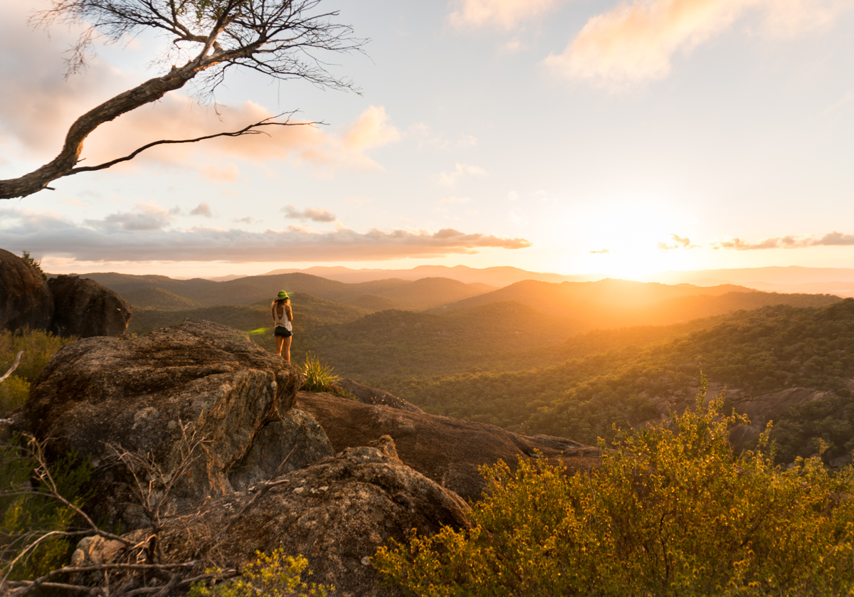 Sunset at The Pyramid, Girraween National Park