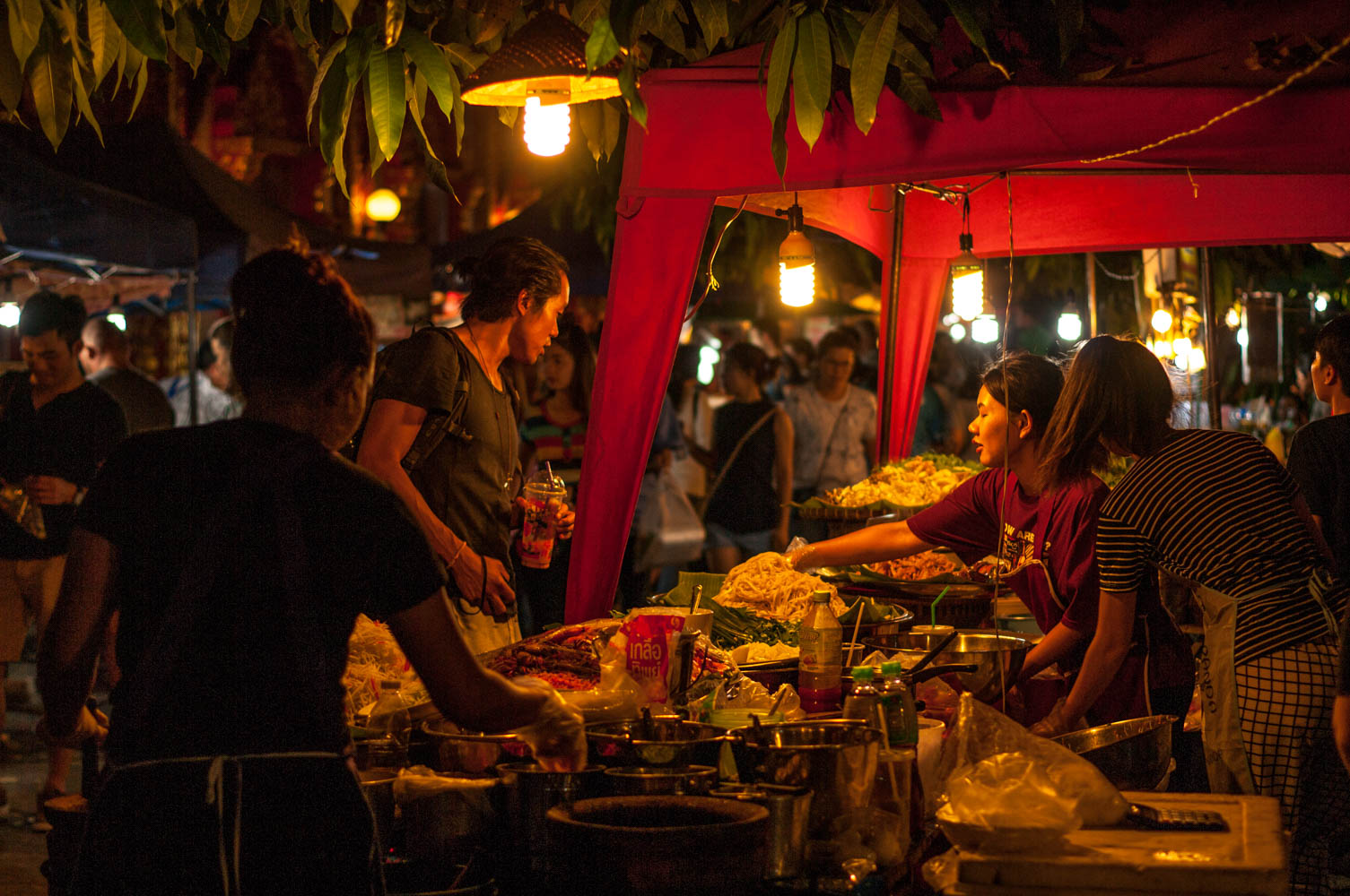 Street food marketplace in Northern Thailand