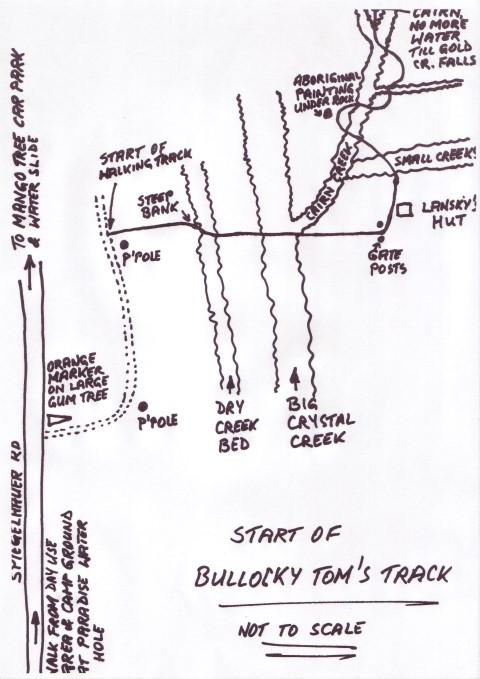 MAP Bullocky Tom's Track start