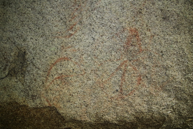 Aboriginal rock art near Bullocky Tom's Track, Crystal Creek