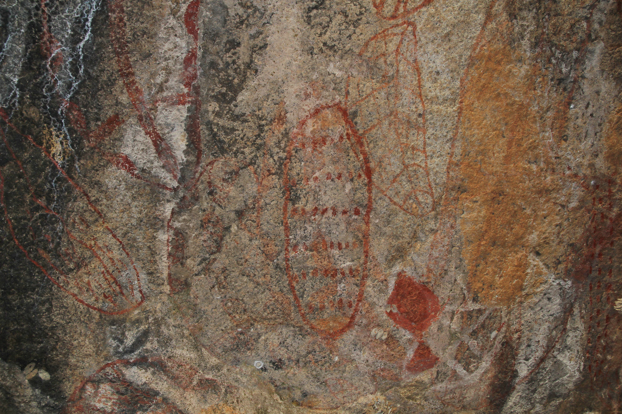 Cape Cleveland aboriginal rock art