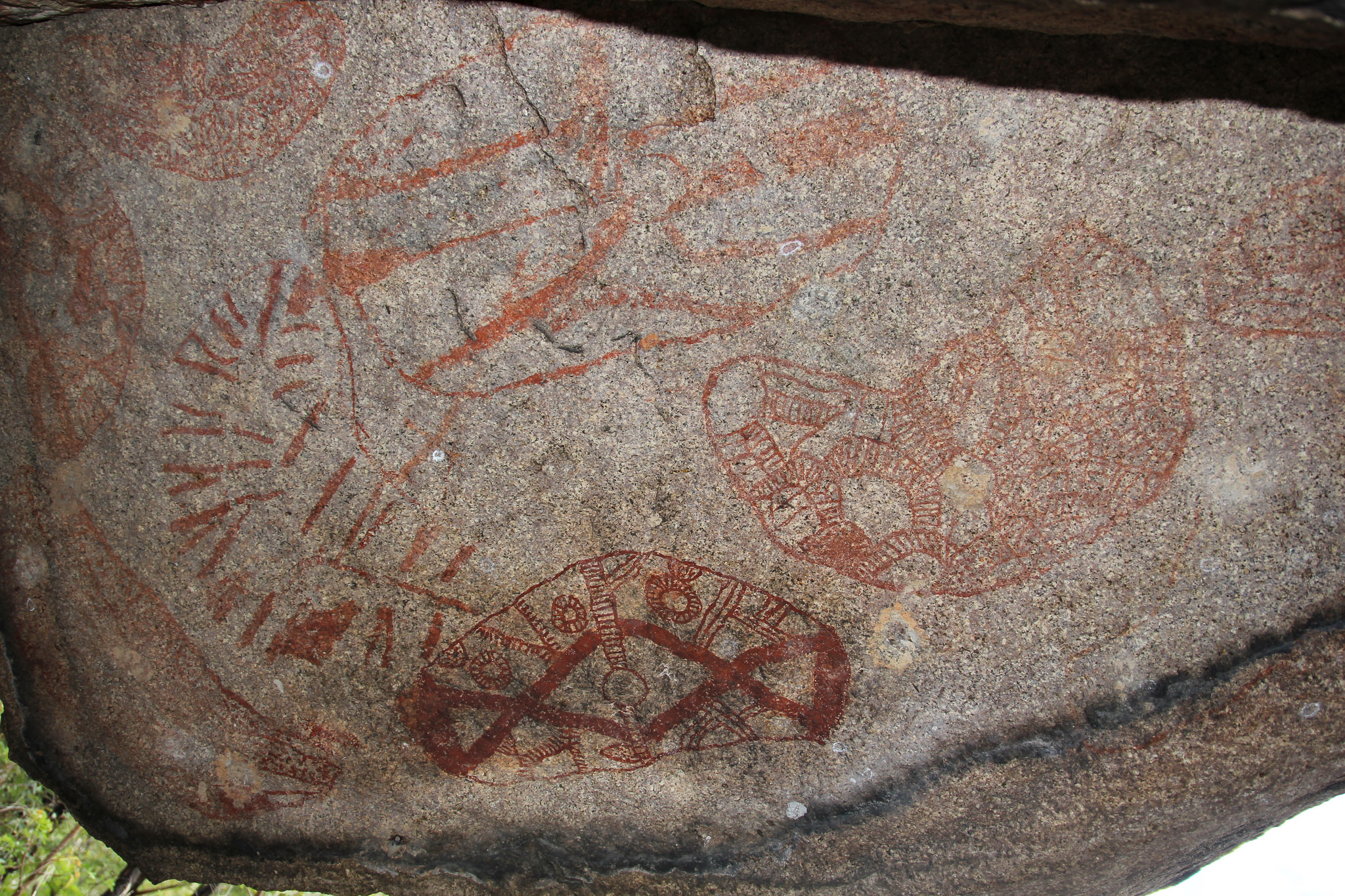 Clevdon aboriginal rock art