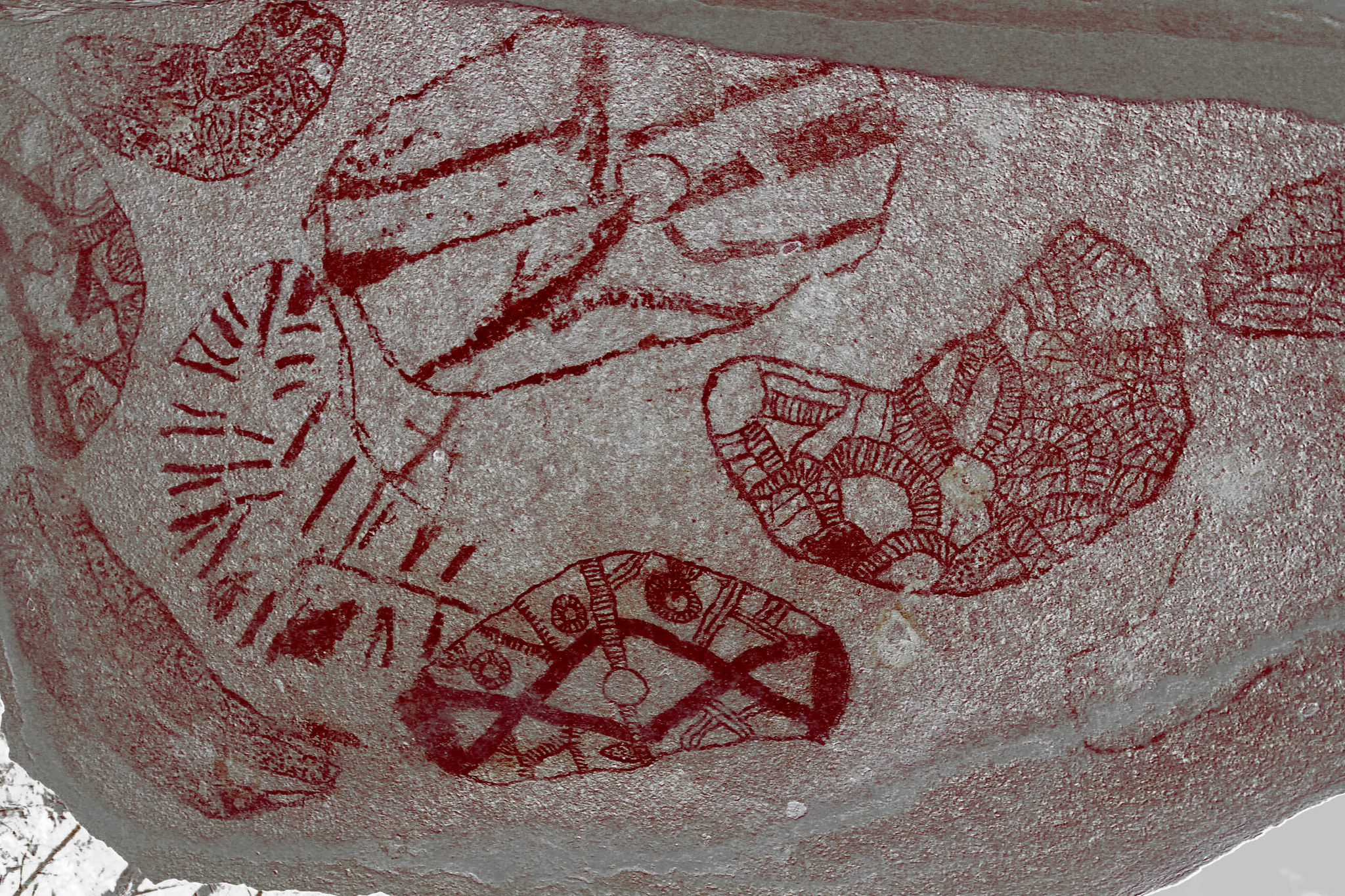 Clevdon aboriginal rock art - software enhanced