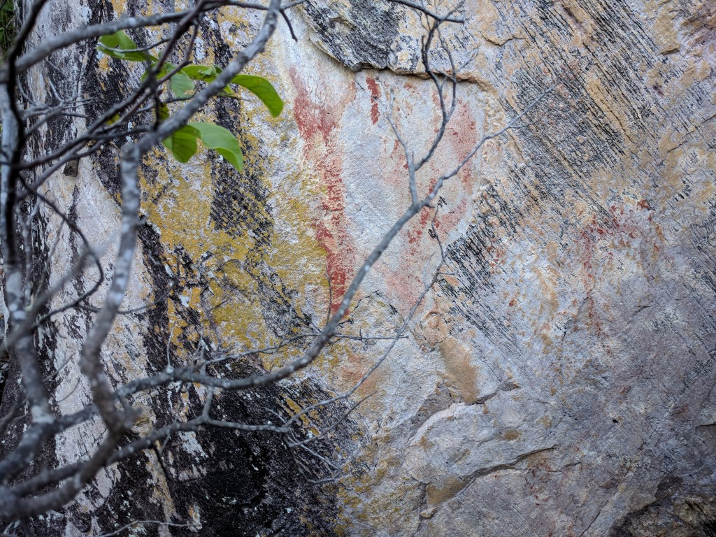 Aboriginal rock art at Many Peaks, Cape Pallarenda