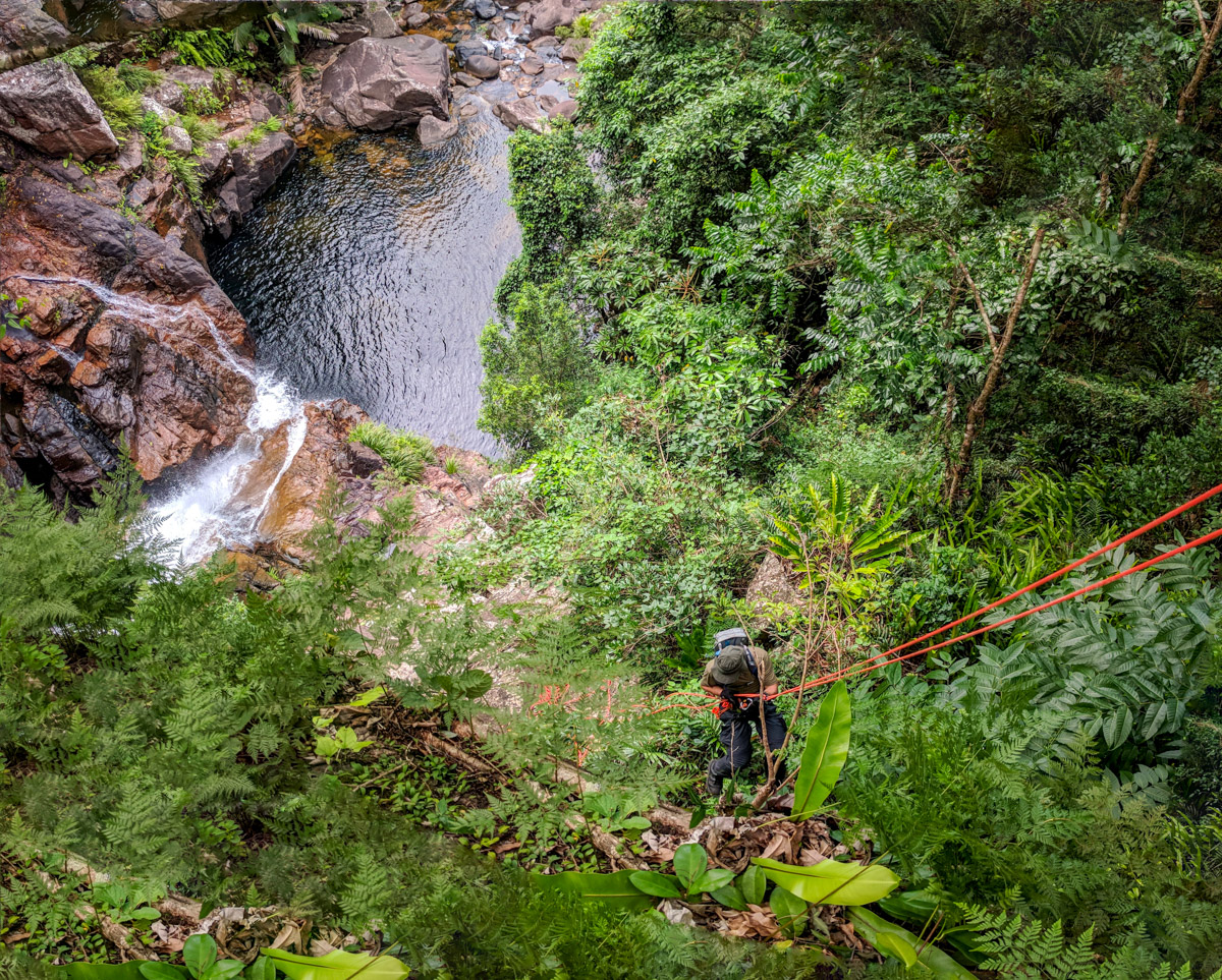 Abseiling Waterfall Creek