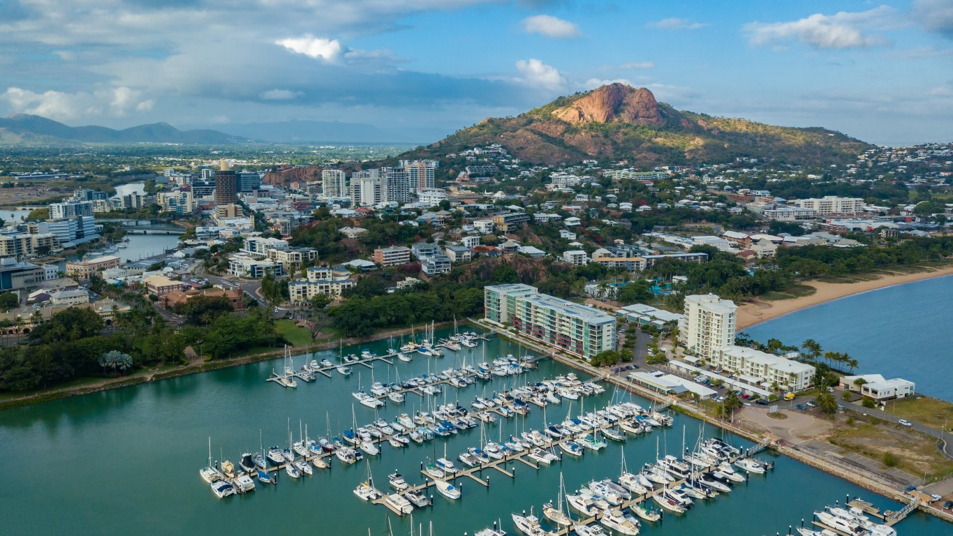 Castle Hill, Townsville from a drone