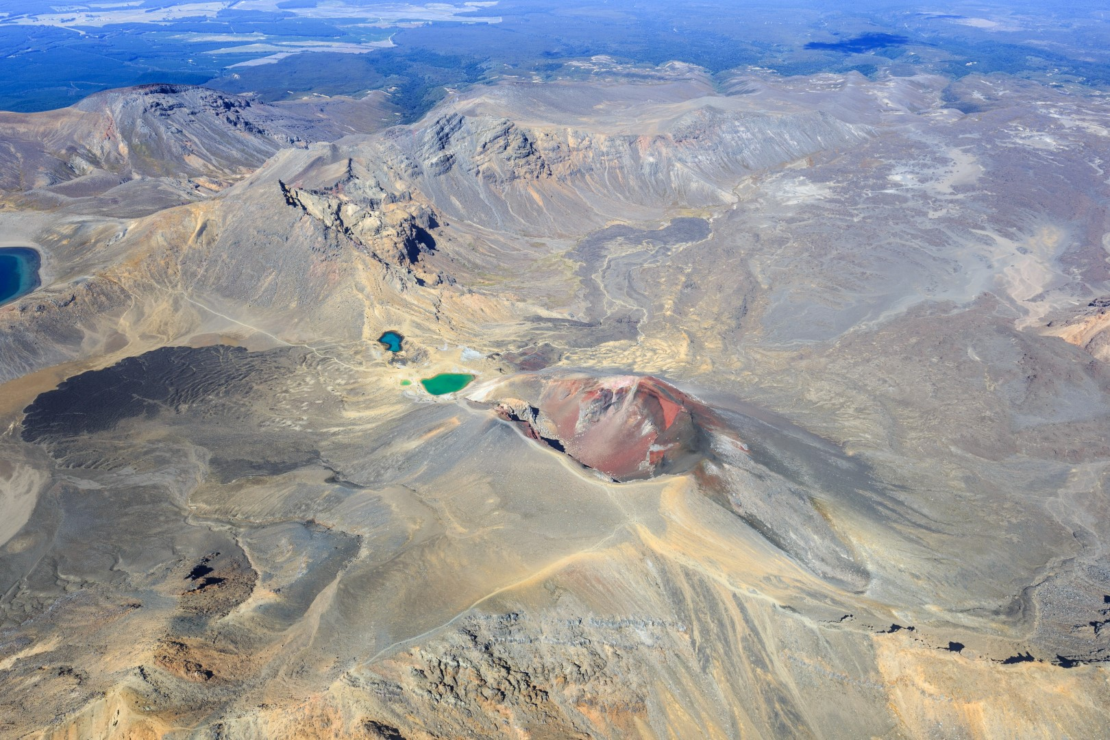 Tongariro Crossing Aerial Drone