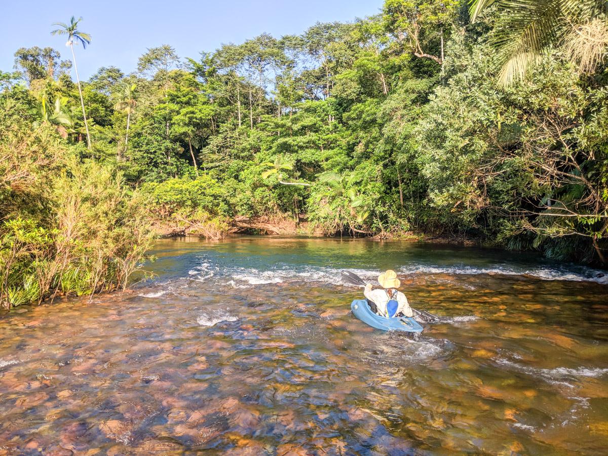 Broadwater Creek kayak & rapids