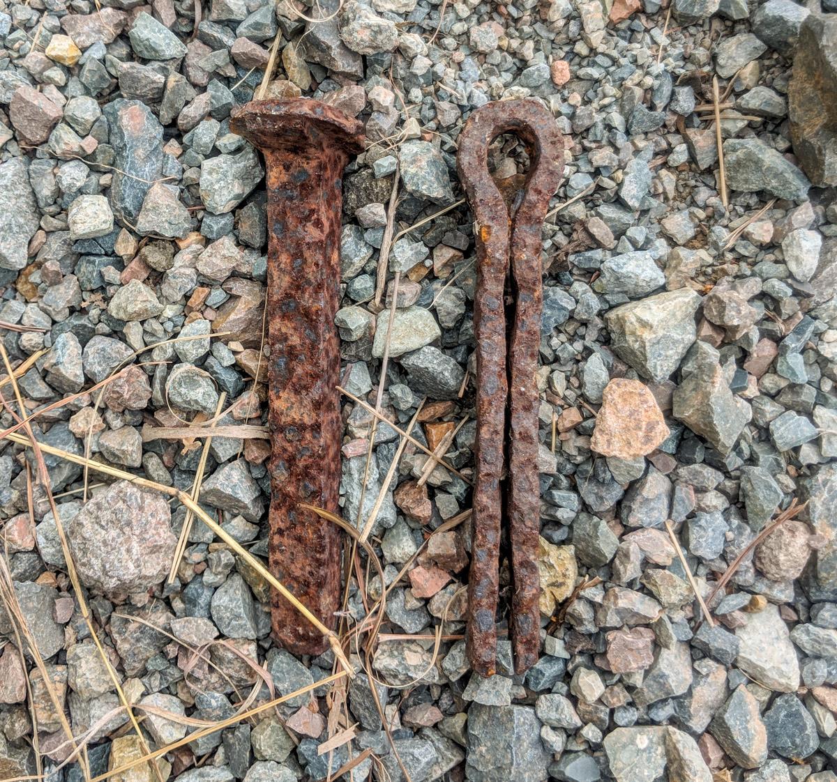 Greenvale Railway Line rusty pin