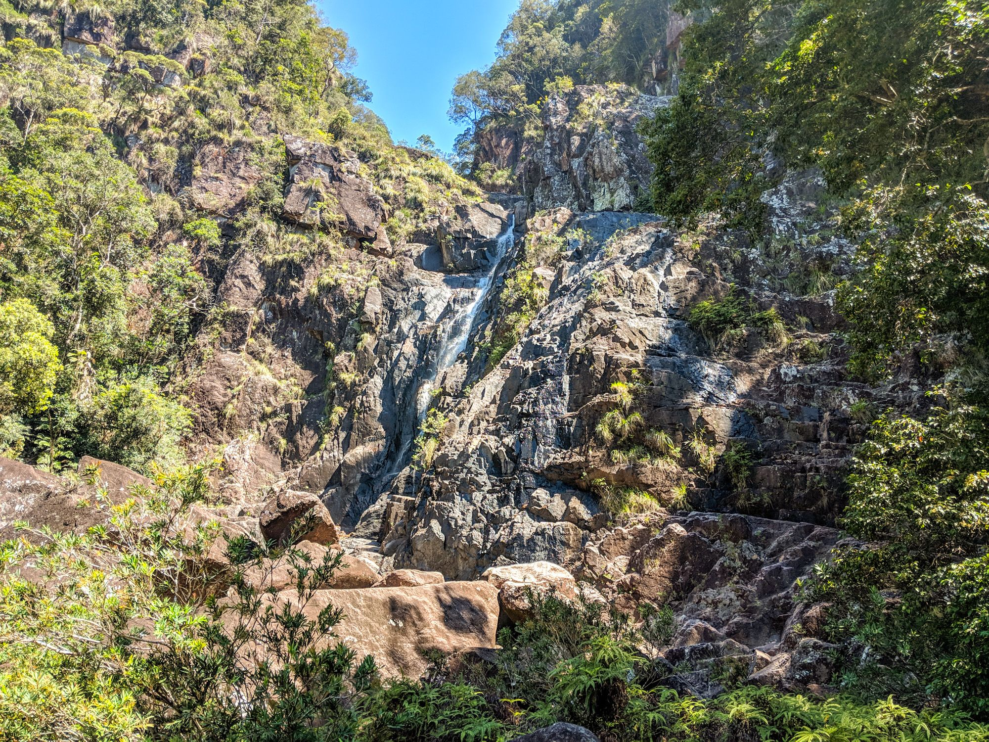 crystal creek falls cliff