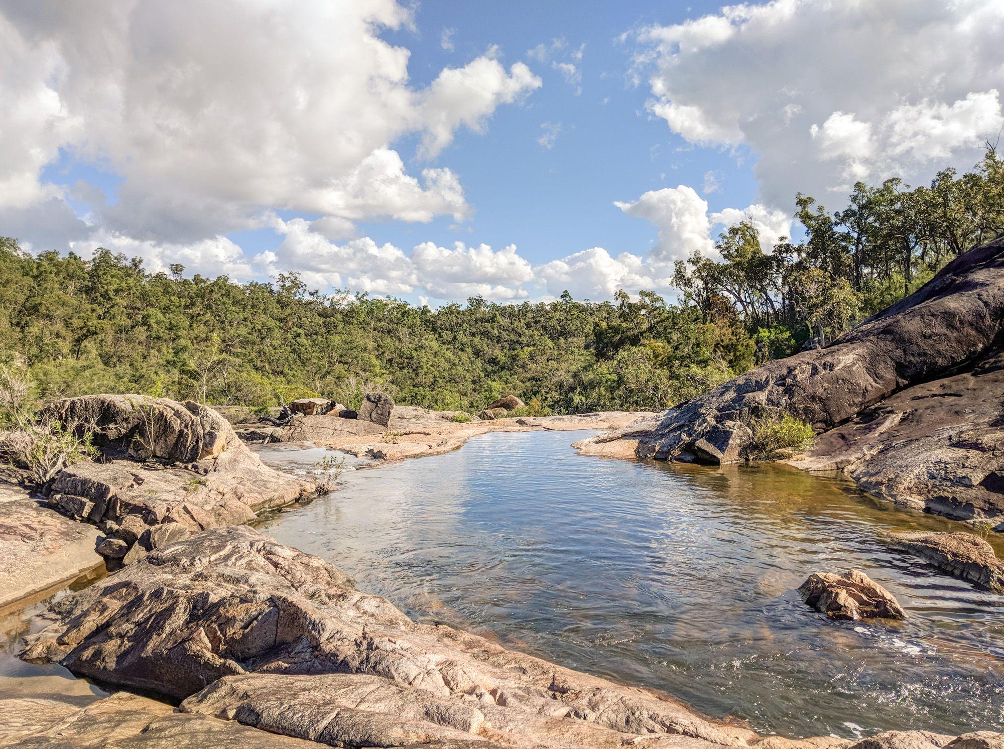 top of hermit creek falls hidden valley