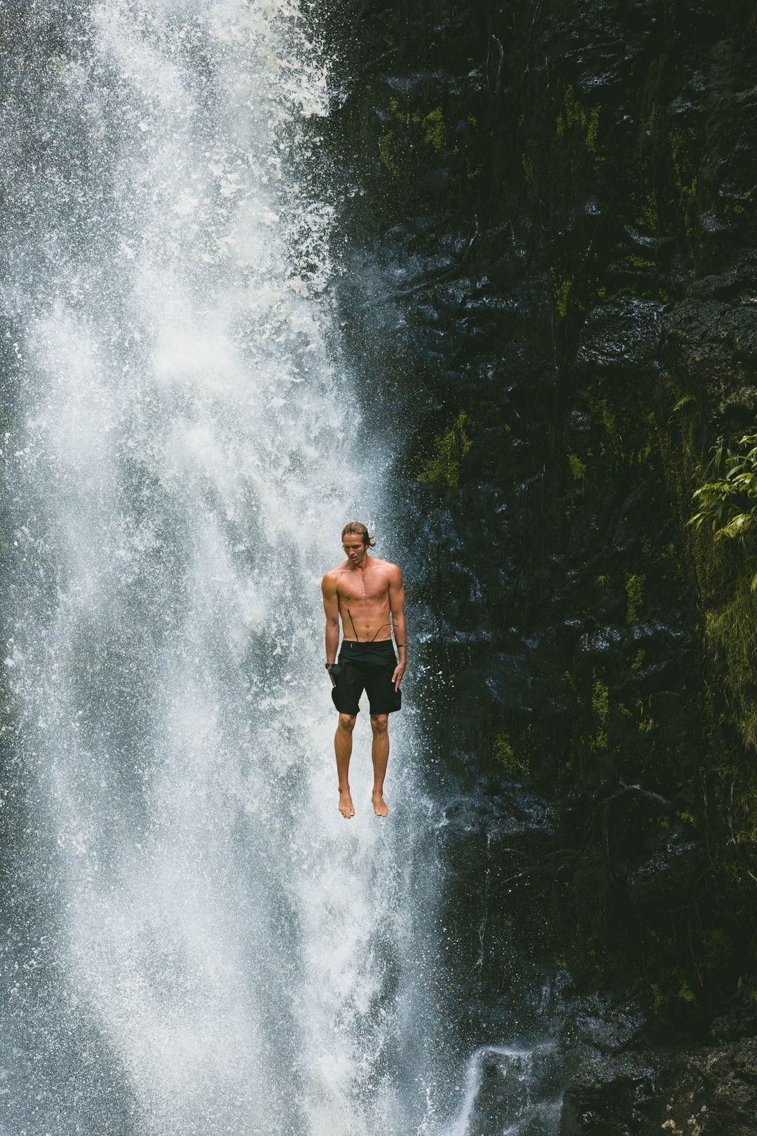 waterfall cliff jump