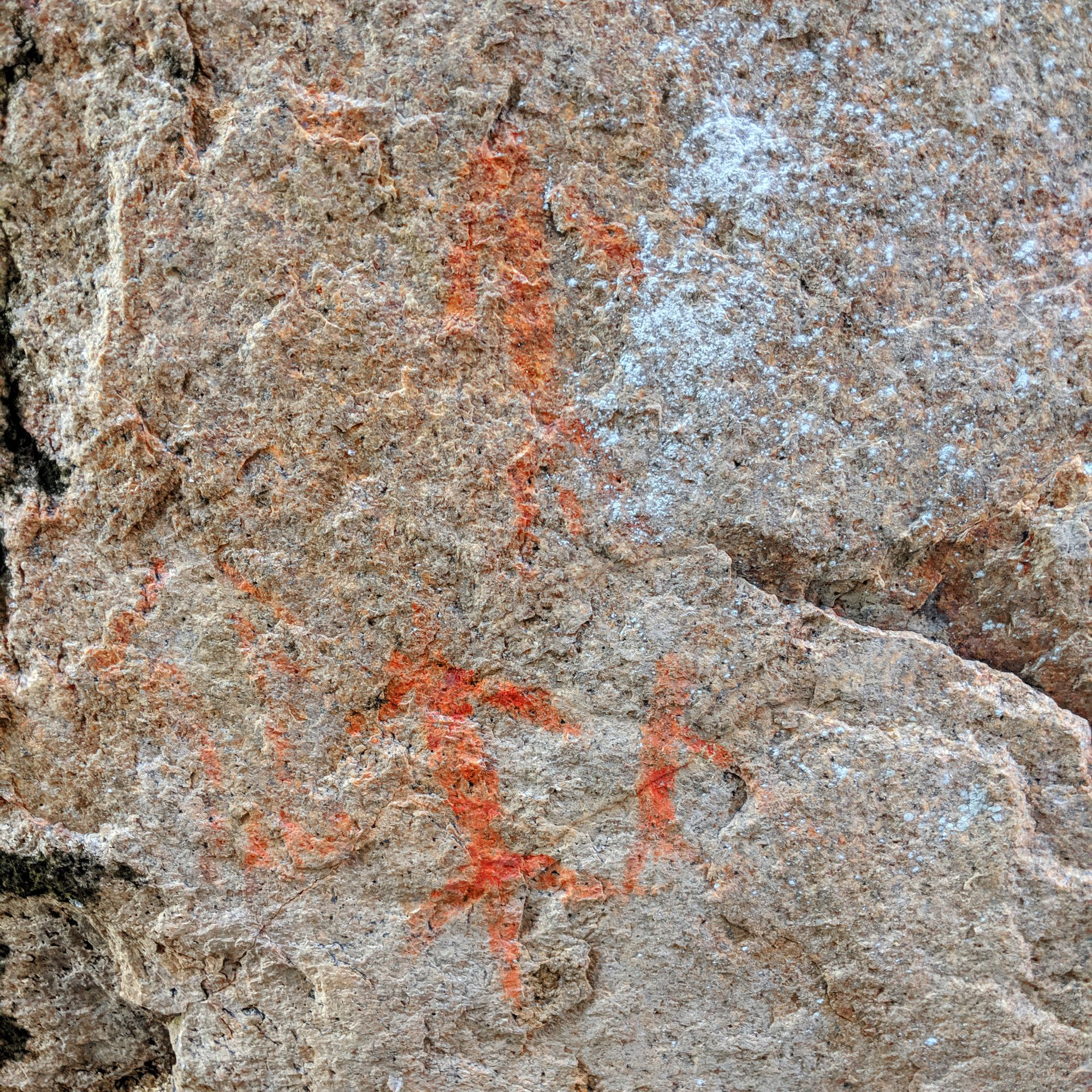 aboriginal painting at Yanks Jetty, Orpheus Island