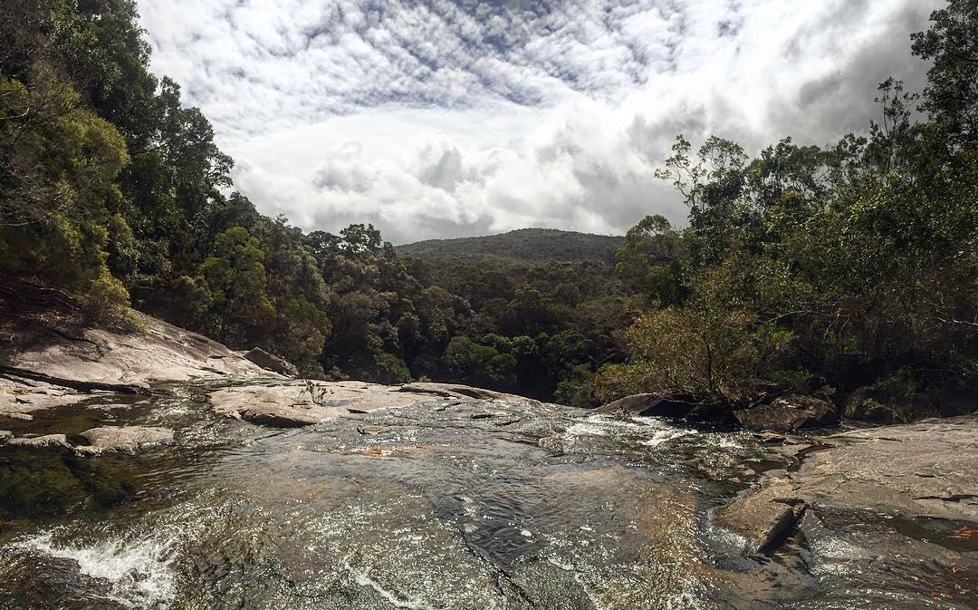 top of birthday creek falls
