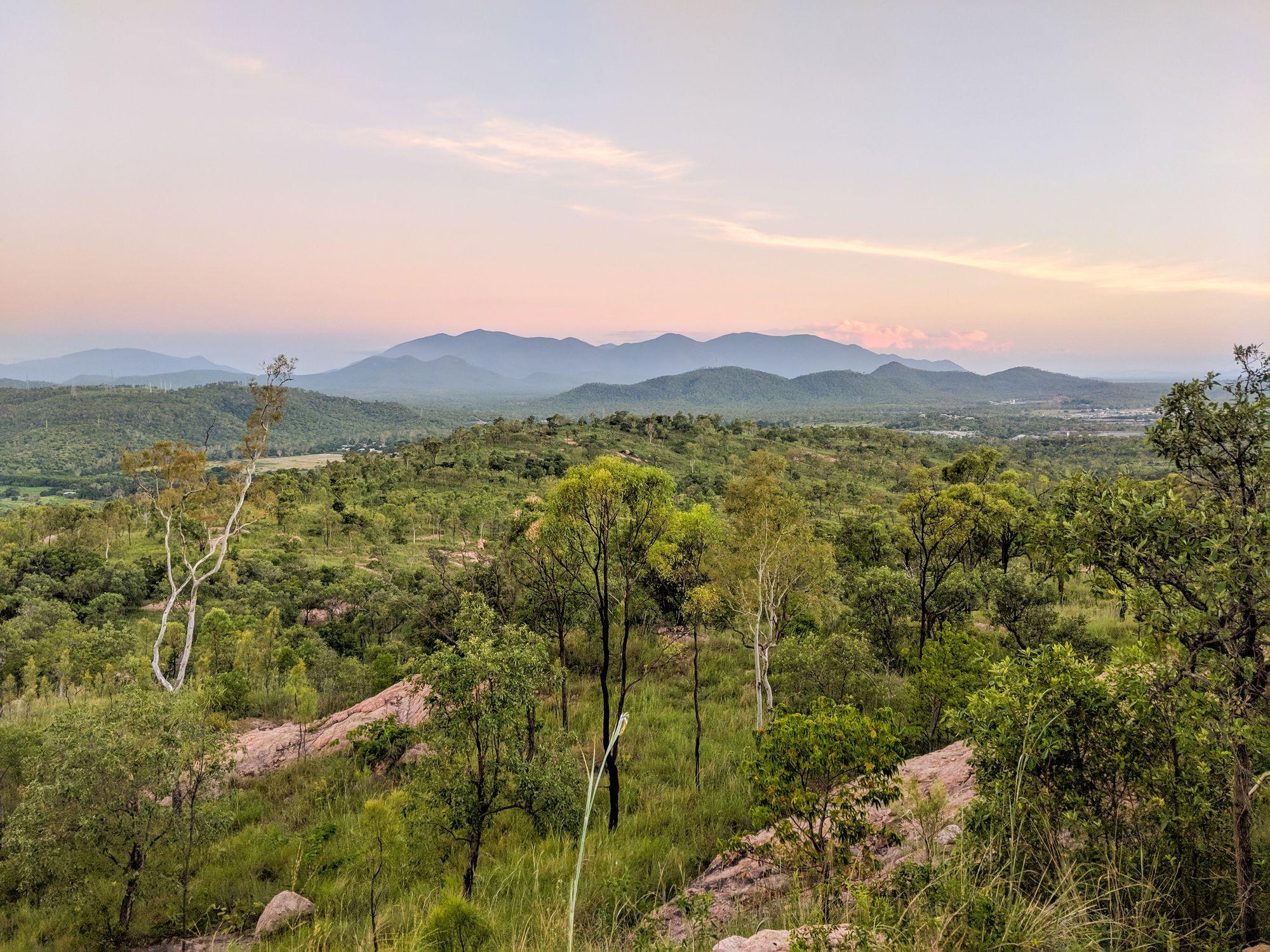 Roseneath Wulguru Hills dusk 1