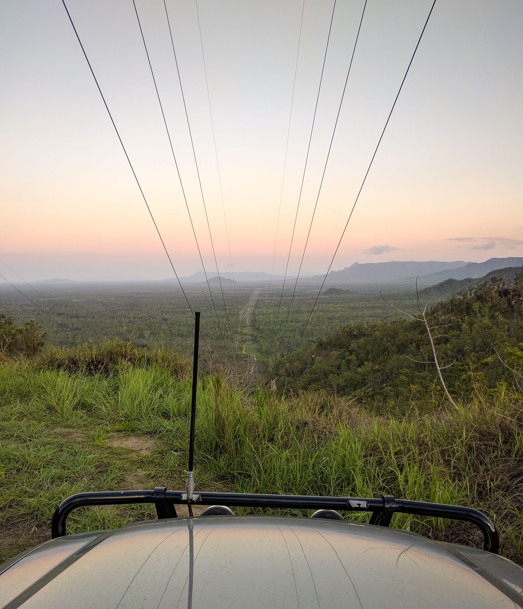 View from the Hervey Range powerlines