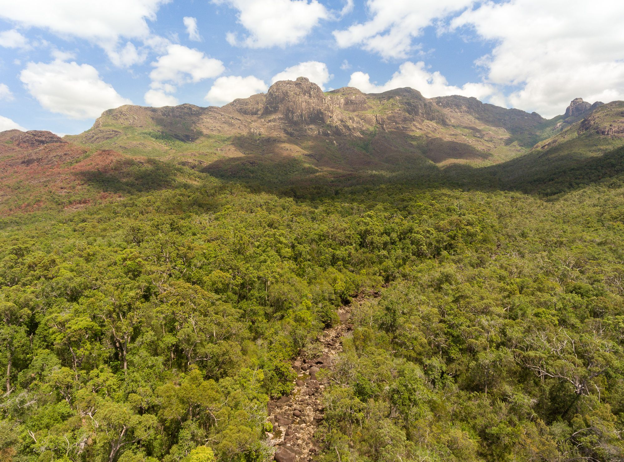 Warrawilla Creek and the Bowen Massif