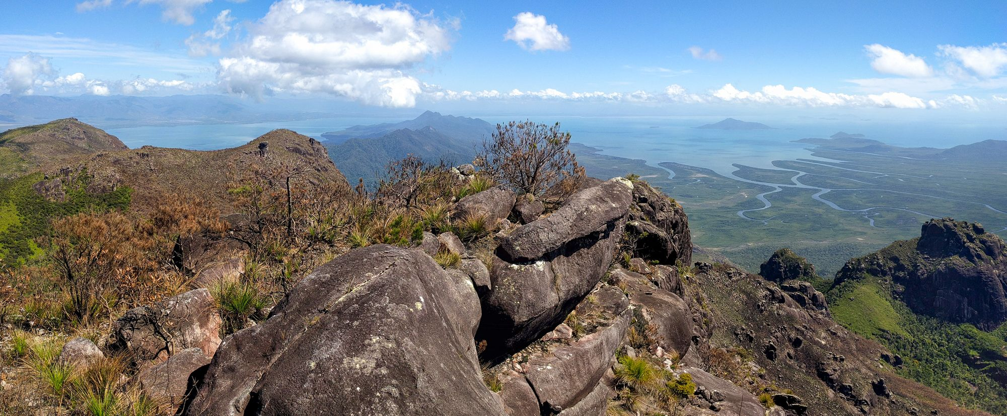 Views to the west from Mt Bowen, Hinchinbrook Island