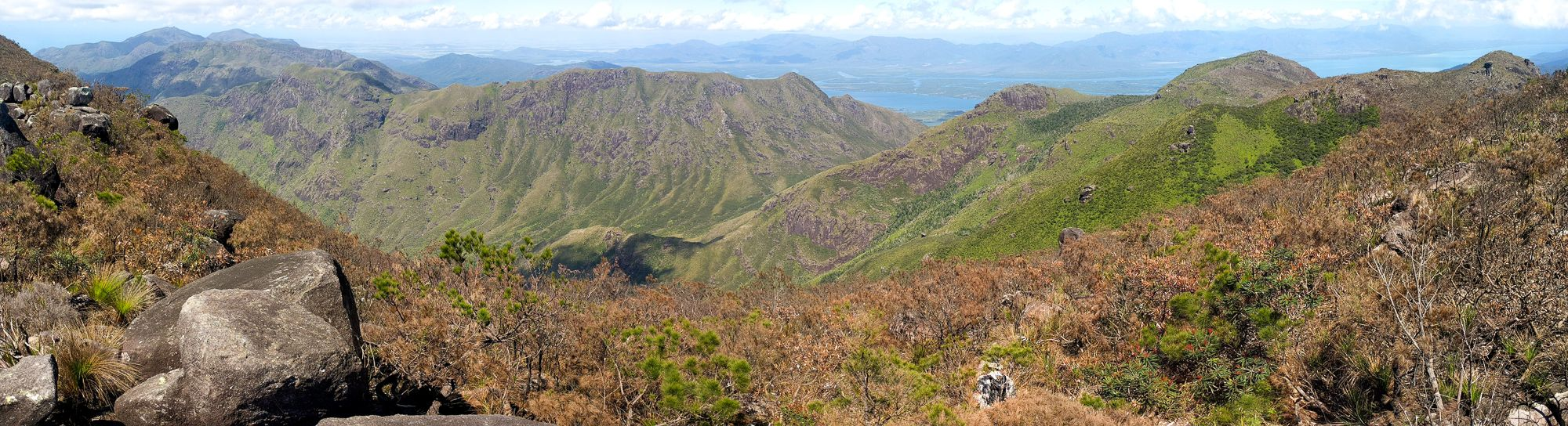 Views out to the South West from Mt Bowen, Hinchinbrook Island