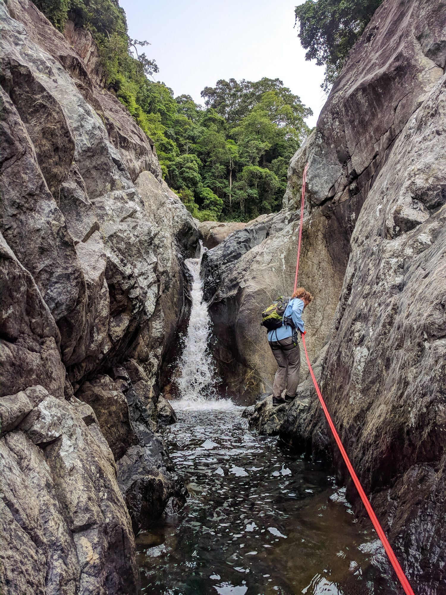 second rappel of waterview creek
