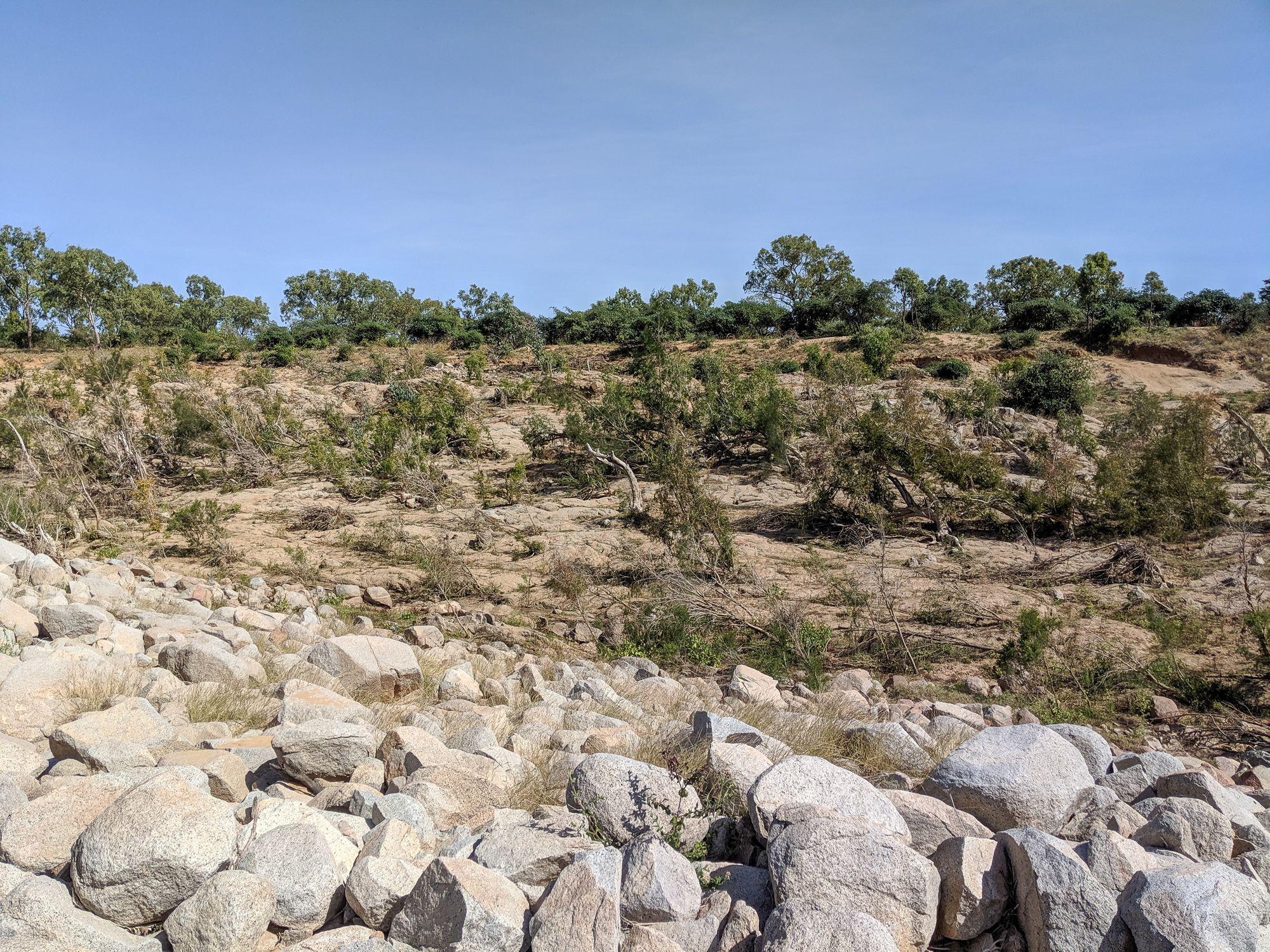 flat rock formation