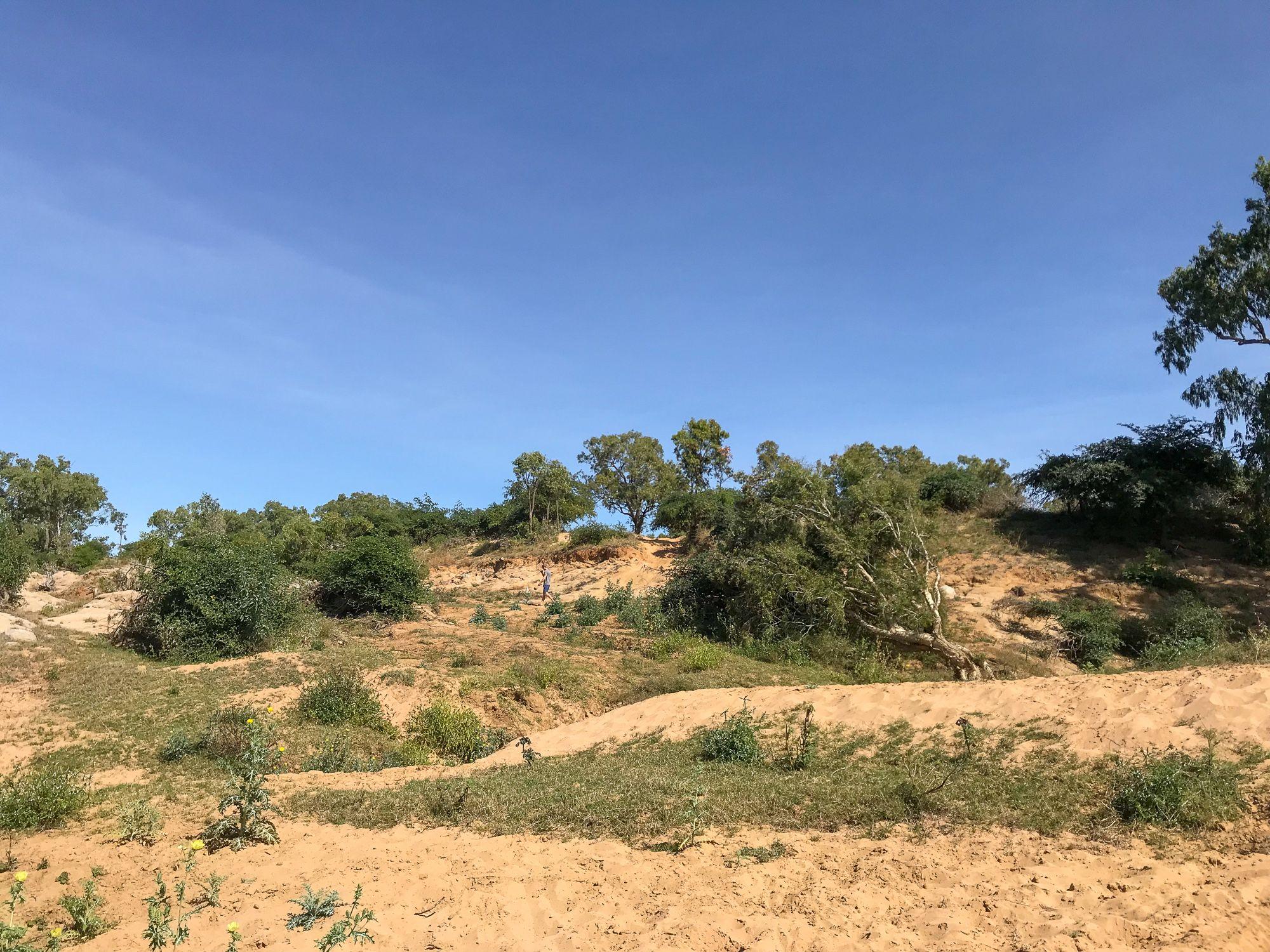flat rock sand