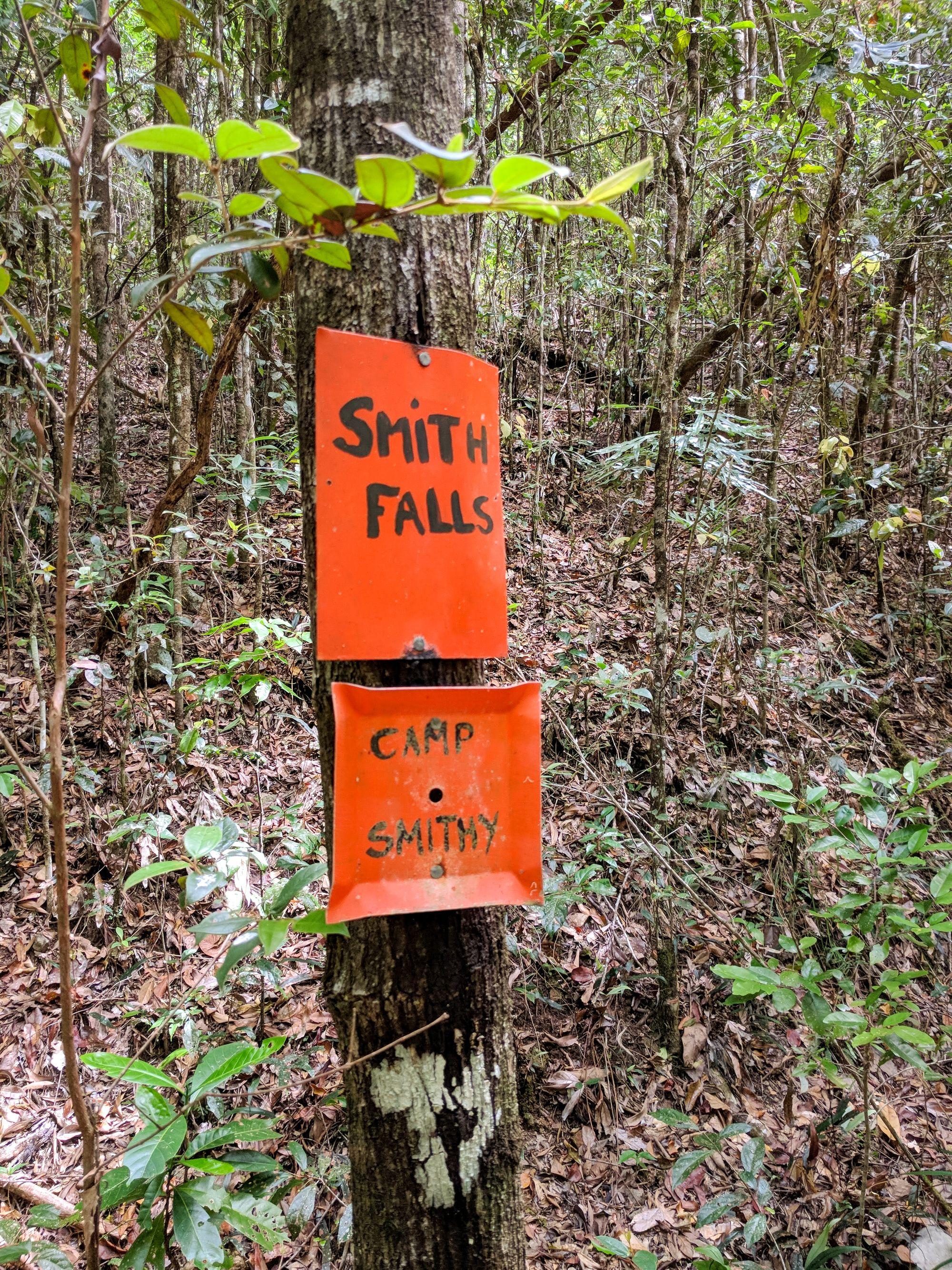 smith falls camp smithy sign
