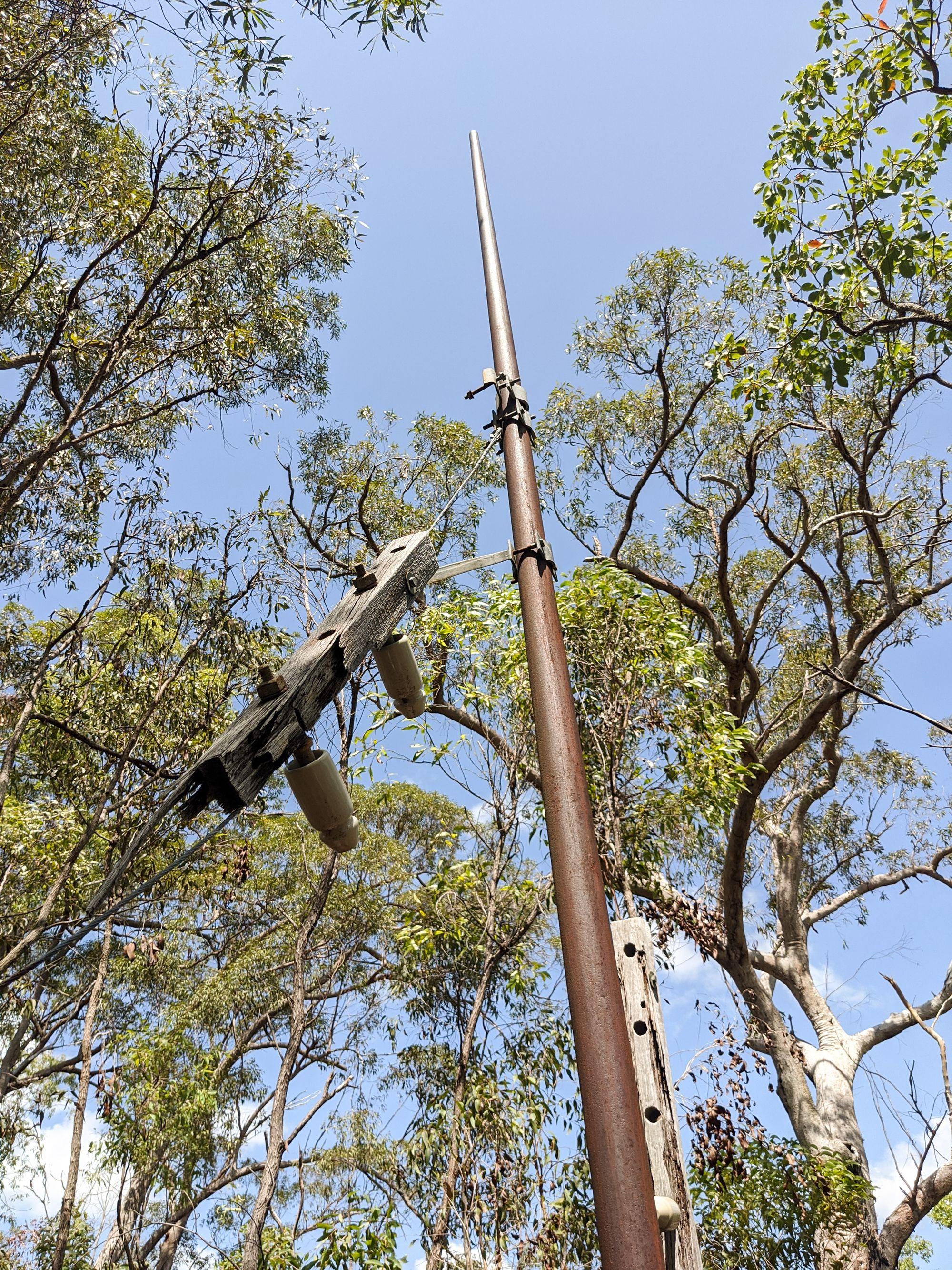 broken telegraph line paluma