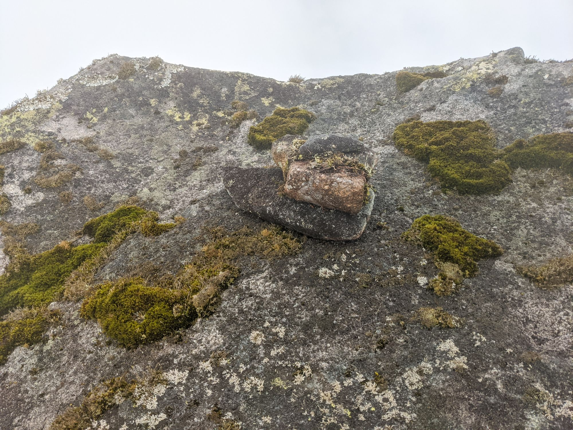 South Peak rock cairn