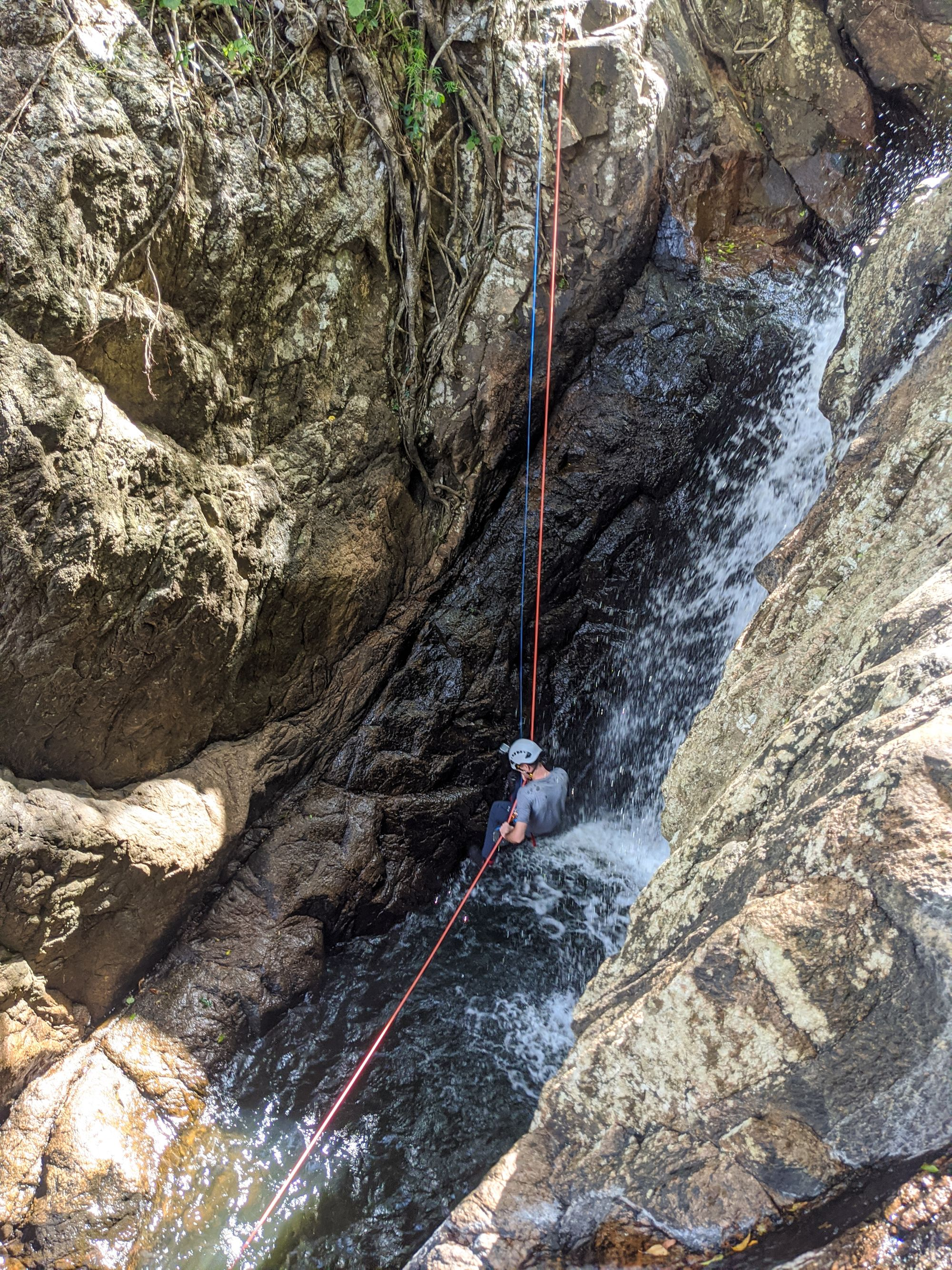 Tinkle Creek rappel 4 triple falls p1