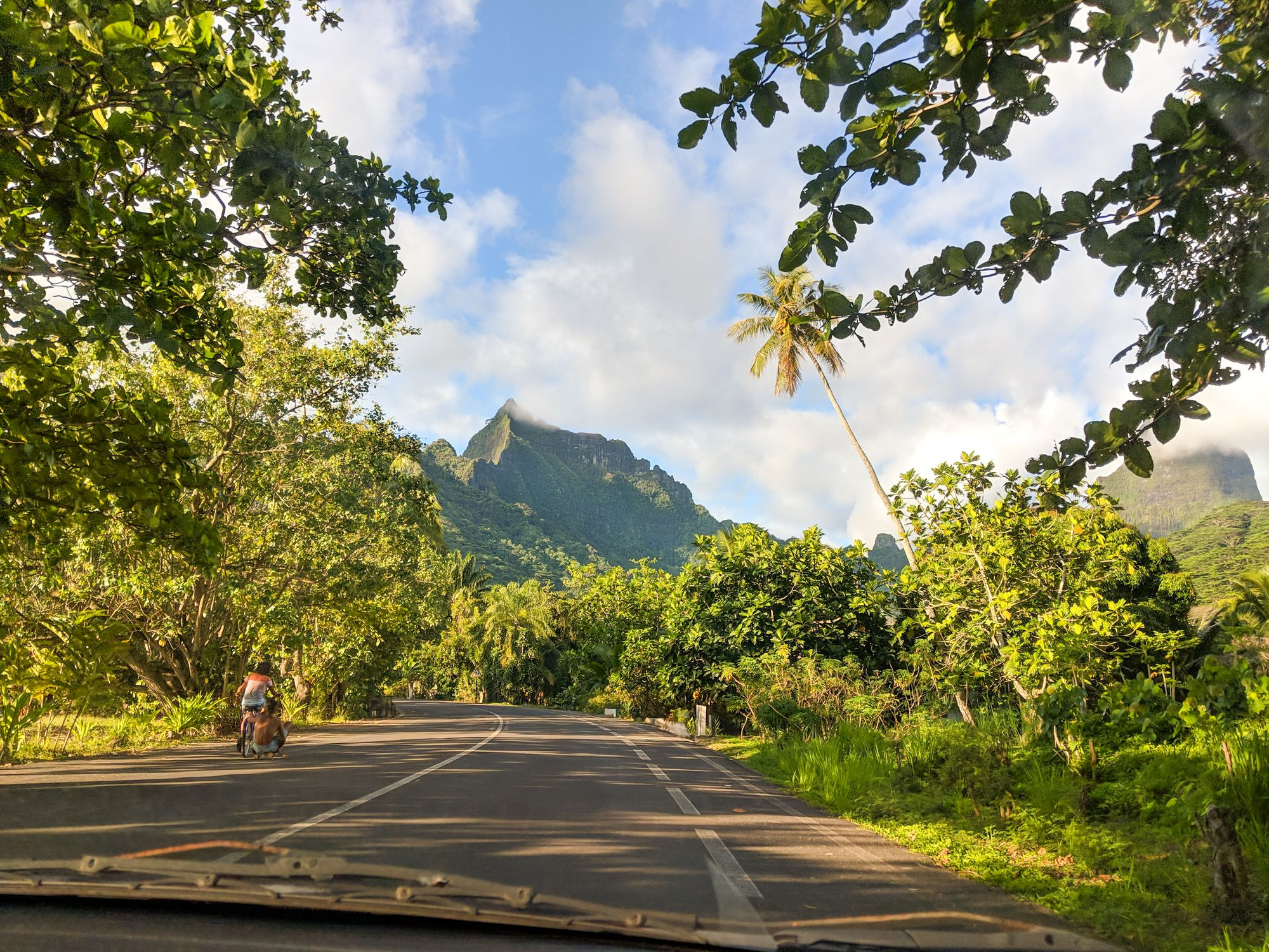 driving moorea french polynesia