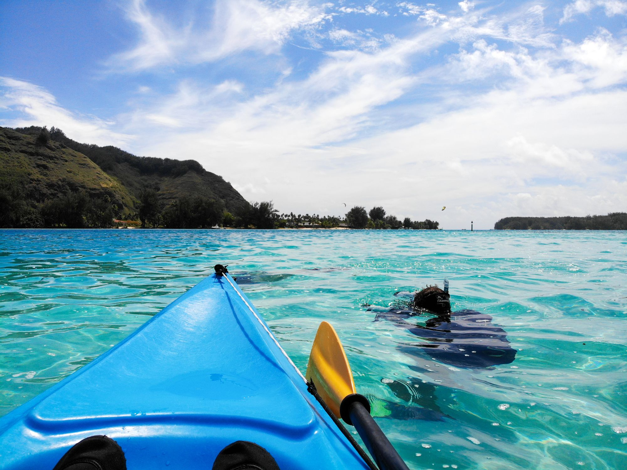 kayaking moorea french polynesia