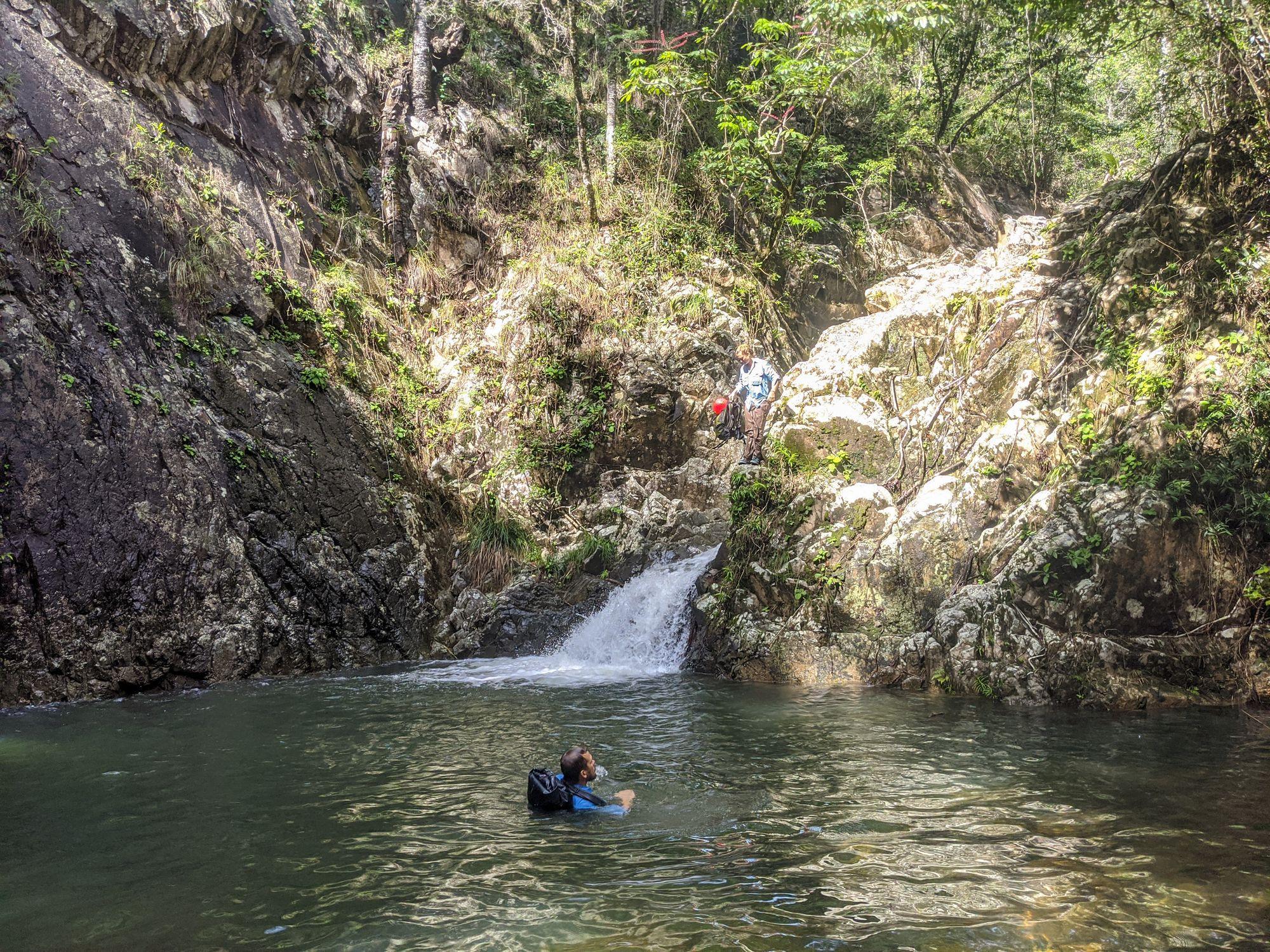 mobile creek cliff jump 1