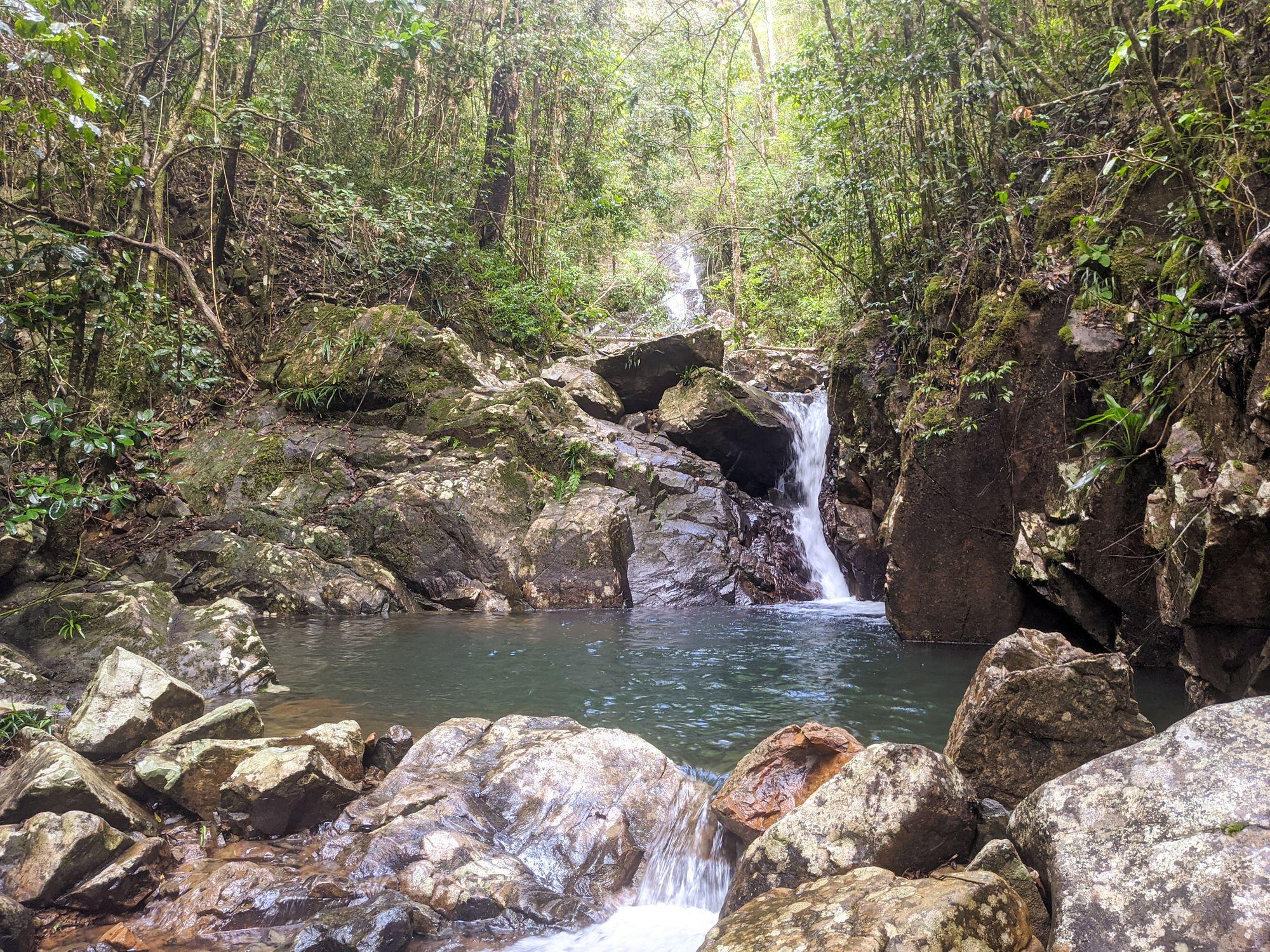 mobile creek waterfall pool teired 1