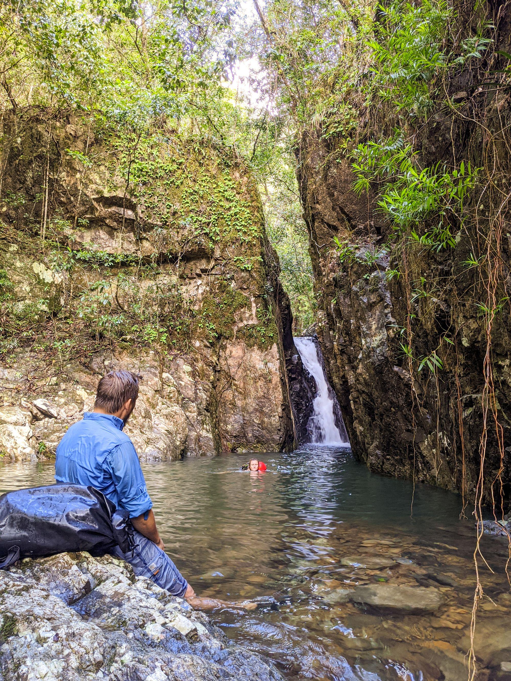slot canyon mobile creek pack swim 1