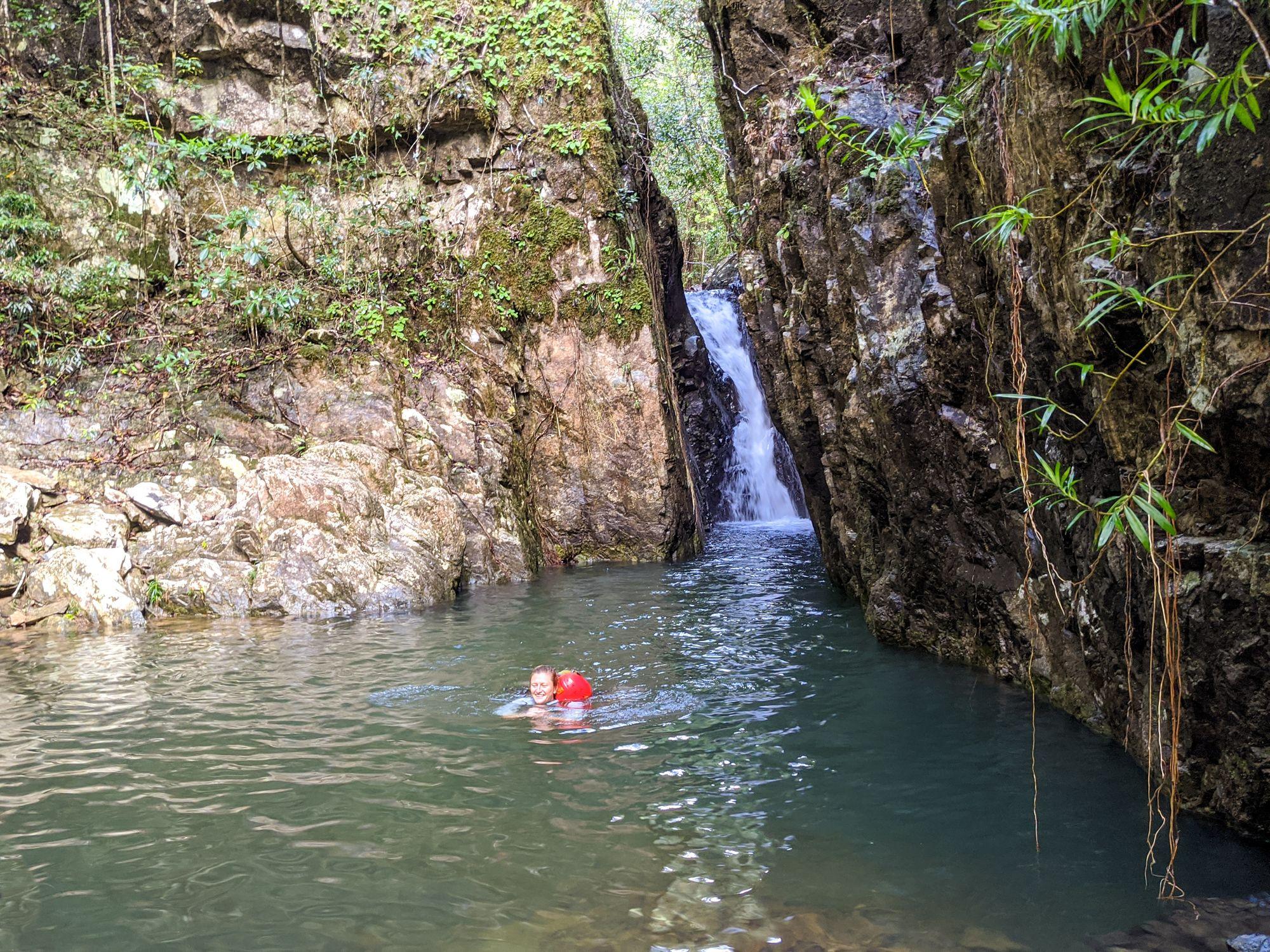slot canyon pack swim mobile creek 1