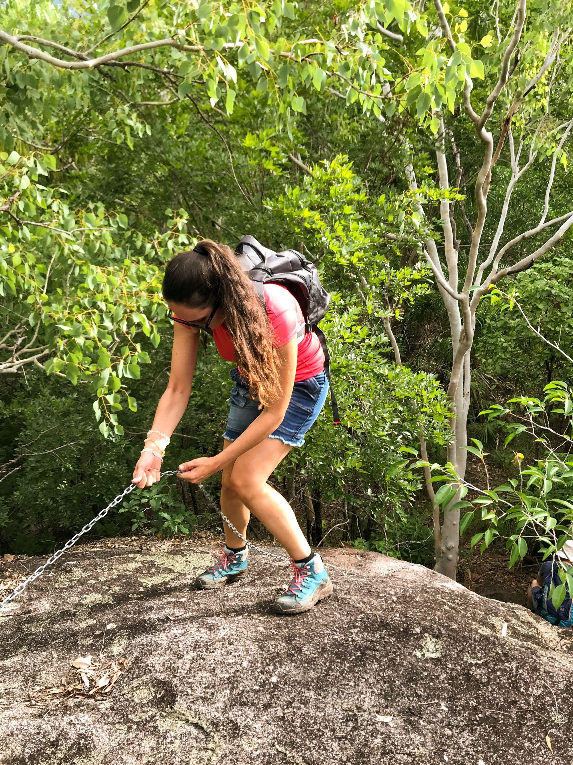 black rock climb
