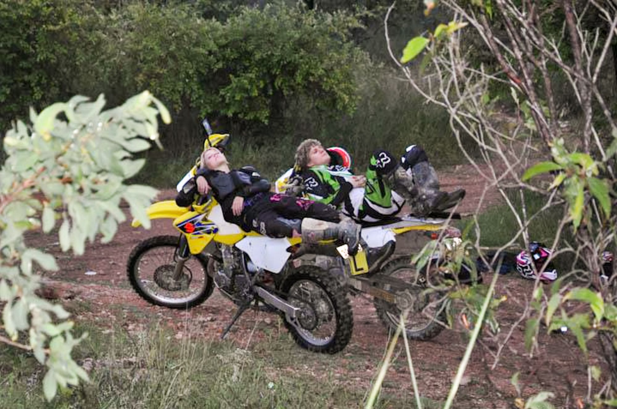 napping on dirtbikes