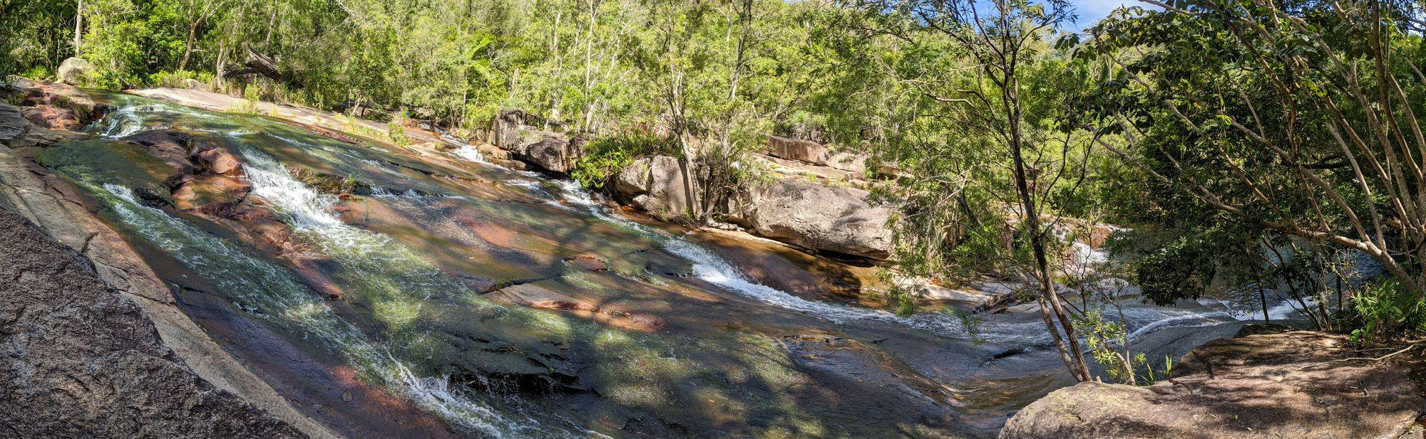 the rock slides